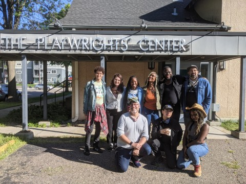 The 2021-22 Playwrights' Center fellows prepare to depart for a retreat in Northern Minnesota