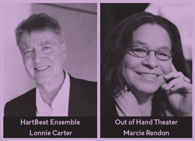 Headshots of playwrights Lonnie Carter and Marcie Rendon